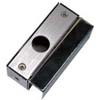 Aluminum material Bracket is for glass door frameless below